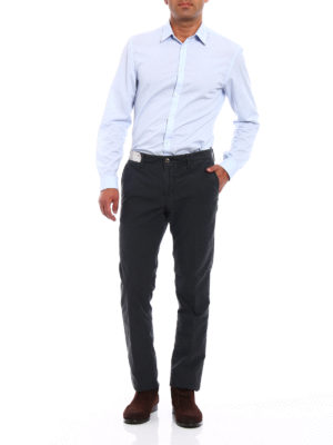 Incotex: casual trousers online - Slacks stretch cotton grey trousers