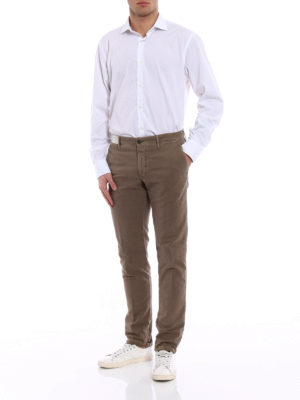Incotex: casual trousers online - Slacks taupe cotton trousers