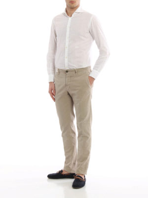 Incotex: casual trousers online - Slim fit canvas trousers