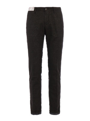 Incotex: casual trousers - Prince of Wales cotton chinos