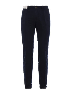 Incotex: casual trousers - Prince of Wales print cotton chinos