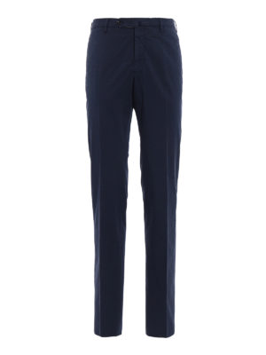 Incotex: casual trousers - Royal Batavia blue cotton trousers