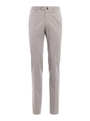 Incotex: casual trousers - Royal Batavia grey cotton trousers