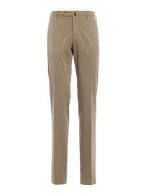 Incotex: casual trousers - Royal Batavia khaki cotton trousers