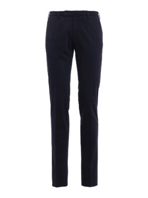 Incotex: casual trousers - Sateen cotton slim trousers