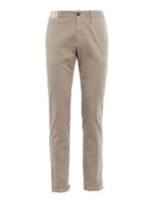 Incotex: casual trousers - Slacks beige cotton trousers
