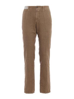 Incotex: casual trousers - Slacks beige linen blend trousers