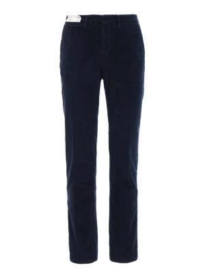 Incotex: casual trousers - Slacks corduroy slim fit trousers