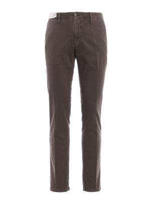 Incotex: casual trousers - Slacks cotton slim fit trousers