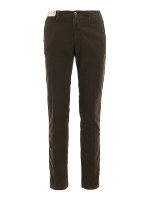 Incotex: casual trousers - Slacks cotton twill slim trousers