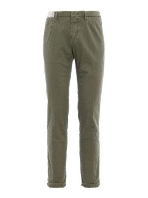 Incotex: casual trousers - Slacks green cotton trousers