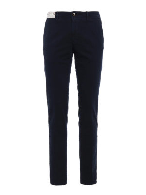 Incotex: casual trousers - Slacks jacquard cotton trousers