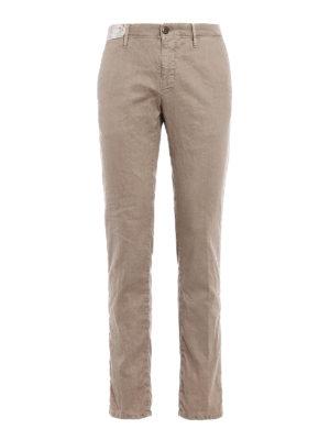 Incotex: casual trousers - Slacks linen blend trousers