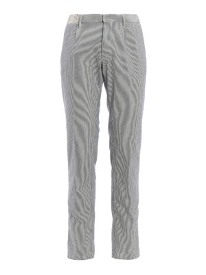 Incotex: casual trousers - Slacks slim fit striped trousers