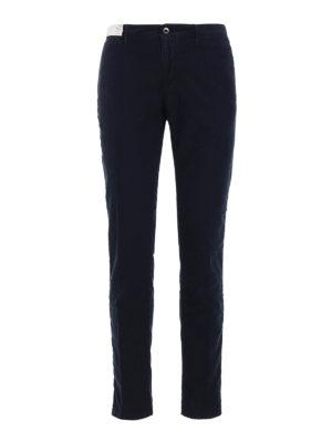 Incotex: casual trousers - Slacks stretch cotton blue trousers