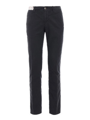 Incotex: casual trousers - Slacks stretch cotton grey trousers