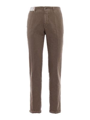 Incotex: casual trousers - Slacks taupe cotton trousers