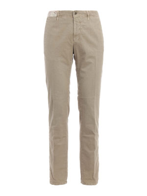 Incotex: casual trousers - Slim fit canvas trousers