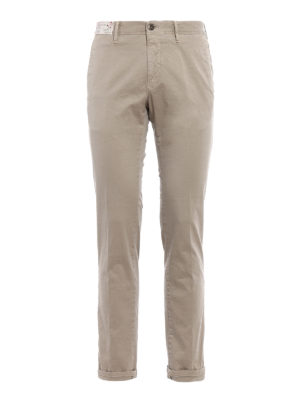 Incotex: casual trousers - Slim fit slack beige chinos