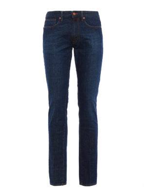 Incotex: straight leg jeans - Cinque denim slim jeans