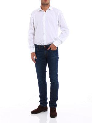 Incotex: straight leg jeans online - Cinque denim slim jeans