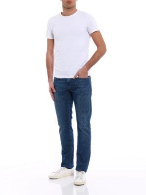 Incotex: straight leg jeans online - Sky Slim five pocket denim jeans