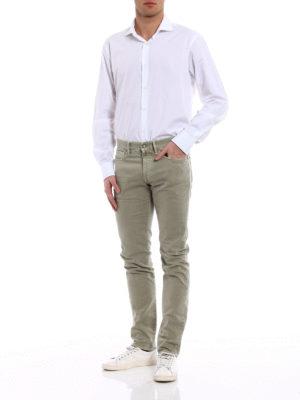 Incotex: straight leg jeans online - Sky Slim five pocket jeans