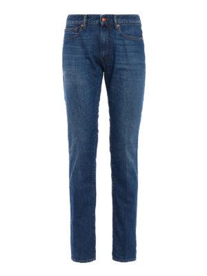 Incotex: straight leg jeans - Sky Slim five pocket denim jeans