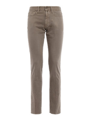 Incotex: straight leg jeans - Sky Slim five pocket taupe jeans