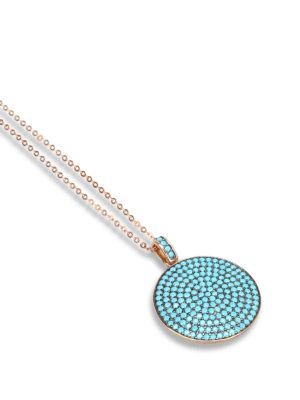 Ippocampo: Necklaces & Chokers online - Turquoise detailed necklace