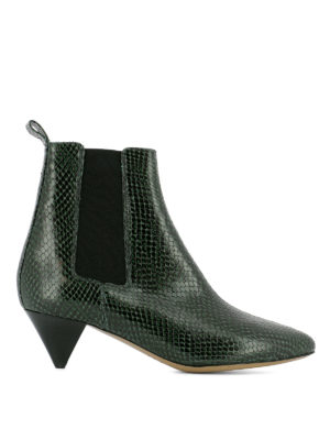 Isabel Marant: ankle boots - Dawell reptile print ankle boots