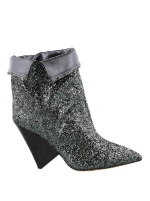 Isabel Marant: ankle boots - Luliana cone heeled glitter booties