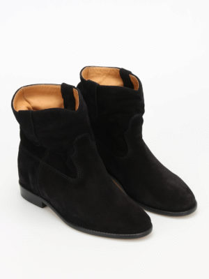 Isabel Marant: ankle boots online - Crisi suede ankle boots