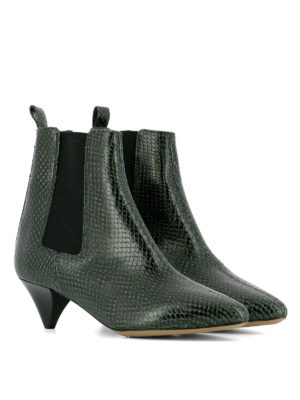 Isabel Marant: ankle boots online - Dawell reptile print ankle boots
