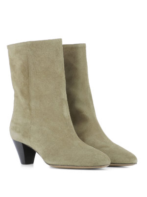 Isabel Marant: ankle boots online - Dyna suede booties