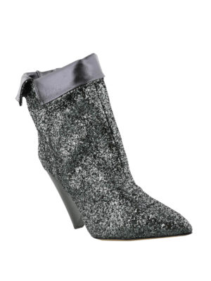 Isabel Marant: ankle boots online - Luliana cone heeled glitter booties