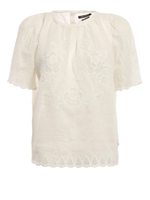 Isabel Marant: blouses - Araza embroidered ramie blouse