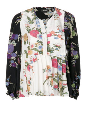 Isabel Marant: blouses - Ivia floral silk crepe blouse