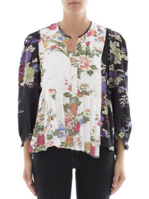 Isabel Marant: blouses online - Ivia floral silk crepe blouse