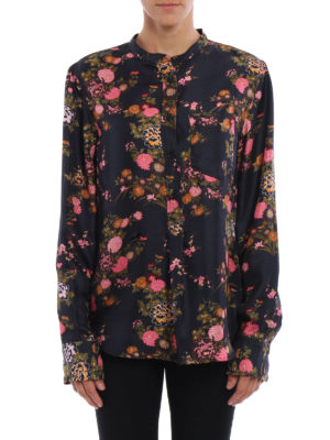 Isabel Marant: blouses online - Rusak floral silk twill blouse