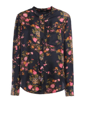 Isabel Marant: blouses - Rusak floral silk twill blouse