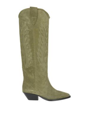 ISABEL MARANT: stivali - Stivali in camoscio Denzy tortora
