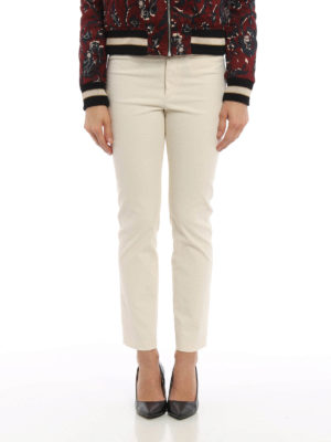 Isabel Marant: casual trousers online - Ovida cotton blend trousers