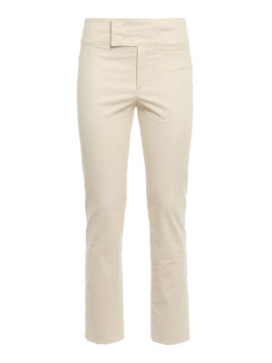 Isabel Marant: casual trousers - Ovida cotton blend trousers