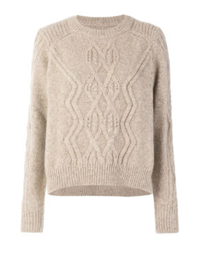 Isabel Marant: crew necks - Elena soft alpaca sweater