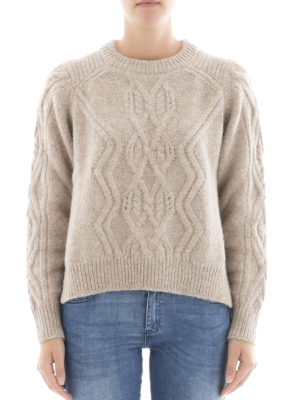 Isabel Marant: crew necks online - Elena soft alpaca sweater