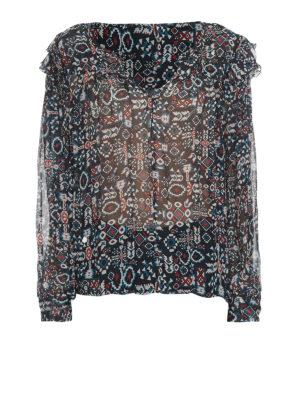 f9e025b49172bb Isabel Marant Etoile: bluse - Blusa in seta fantasia con volant