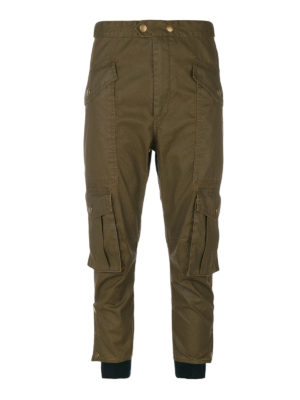 isabel marant etoile: casual trousers - Cropped cargo trousers