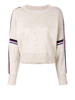 isabel marant etoile: crew necks - Kao cropped oversized sweater