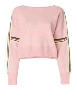 isabel marant etoile: crew necks - Kao oversized crop sweater